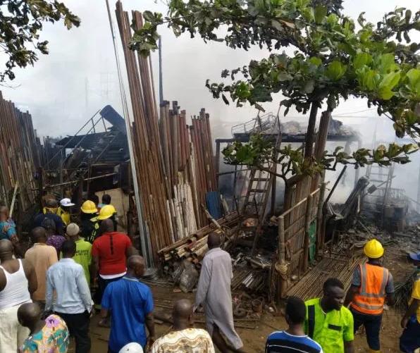 Over 15 shops burnt as fire guts Owode-Onirin market in Ikorodu
