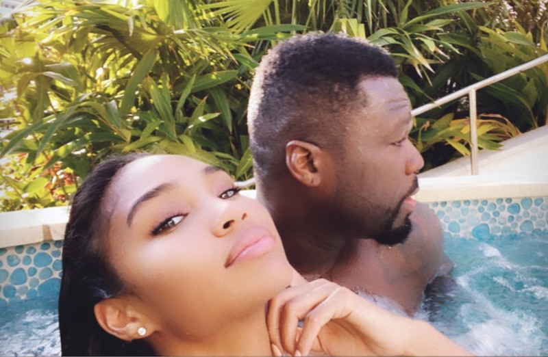 50 Cent and his girlfriend Jamira Haines vacation in the Bahamas (Photos)