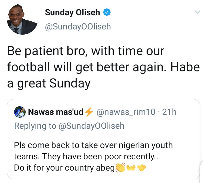 See Sunday Oliseh