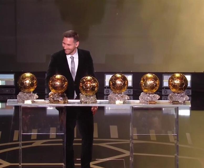 Lionel Messi wins sixth Ballon d
