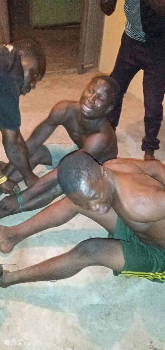 Vigilante group nabs two thieves who stole a big Generator set in Ondo and sold it for N10k (photos)