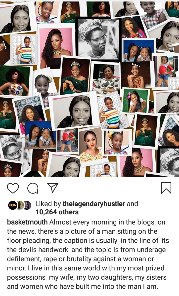 Basket Mouth releases a statement after he was removed as an ambassador for the European Union in Nigeria?s campaign against Sexual and Gender Based Violence
