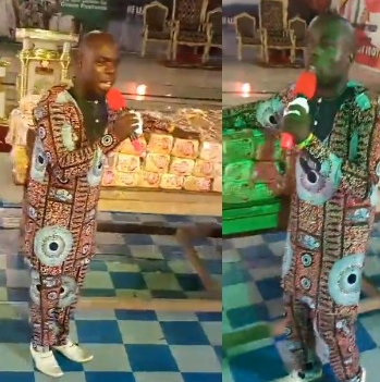 Viral video: Delta state based pastor shares anointed bread to his church members
