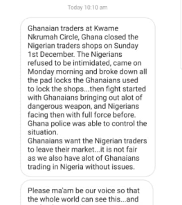 Ghanaian traders allegedly close down shops owned by Nigerian traders, ask them to leave (video)