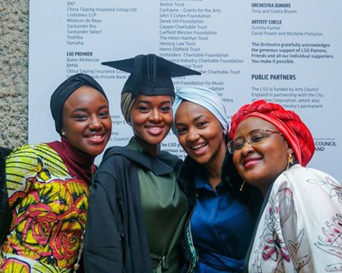 Image result for Buhari's Daughter Graduates With First Class Degree (Photos)""