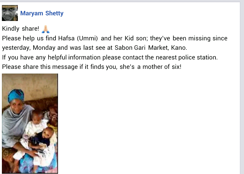Mother and her young son declared missing in Kano