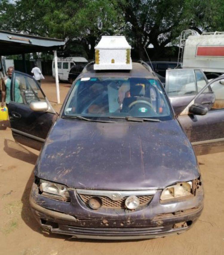 Smuggler hides 385 litres of petrol in 2 caskets