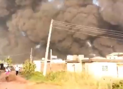 Pandemonium in Lagos as pipeline explosion rocks Gloryland estate in Isheri-Olofin (videos)