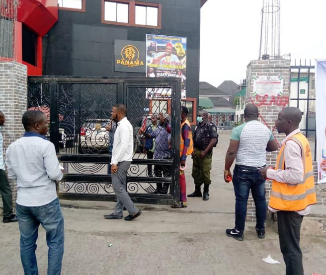 Photos: Lagos State marks?illegal structures encroaching and blocking drainage in Lekki