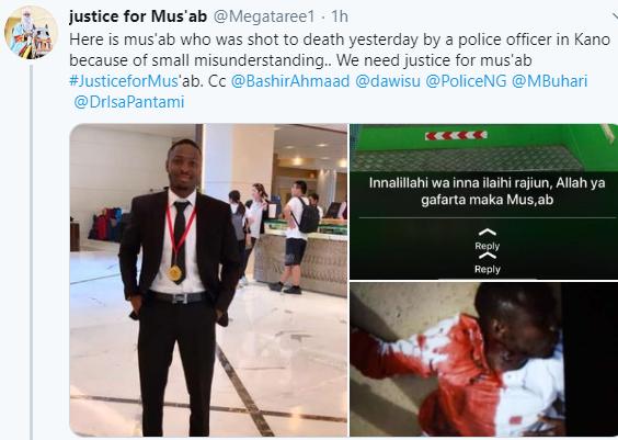 Trigger-happy police officer shoots motorist dead in Kano (photos)