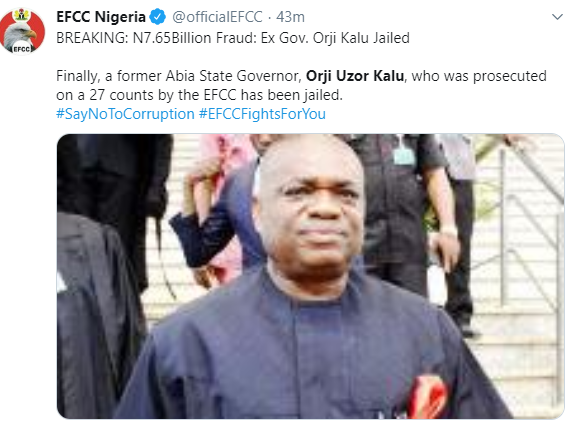 Uche Jombo, other Nigerians react to Orji Uzor Kalu