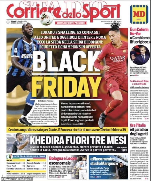 Italian newspaper refuse to apologise for its 'Black Friday' front page which many felt was racist