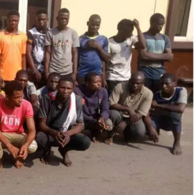 28 okada riders arrested for attacking Lagos State Task Force officials (Photos)