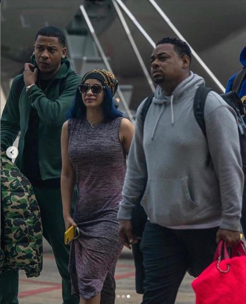 Cardi B arrives Nigeria for a show (photos)