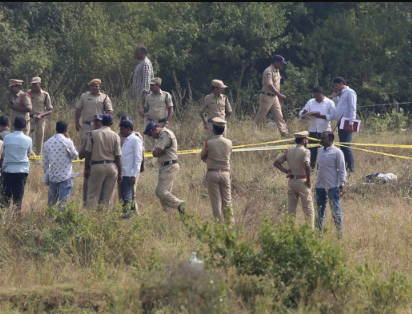 Cops shoot dead four men who gang-raped Indian vet after taking them to field to re-enact the vet's horrific murder