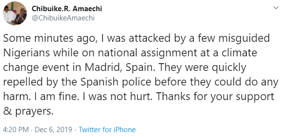 Rotimi Amaechi attacked by Nigerians in Spain