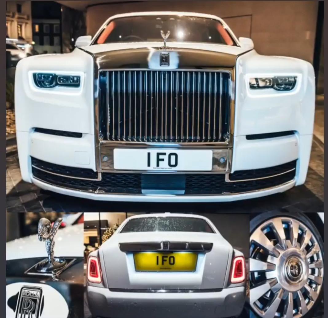 Billionaire businessman Femi Otedola spends ?300k for special IFO number plates on his brand new ?550k Rolls Royce Phantom (photos)