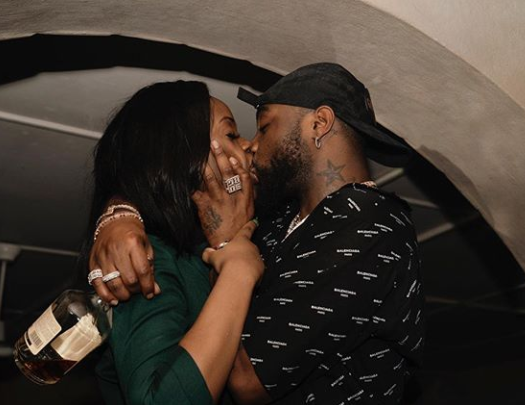 Davido Shares Photo Of himself Passionately Kissing Chioma thumbnail