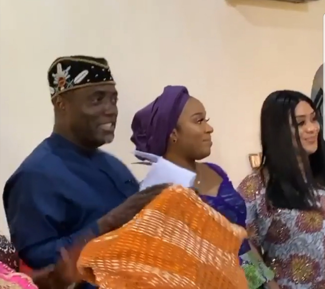 Photos from the wedding introduction of Davido