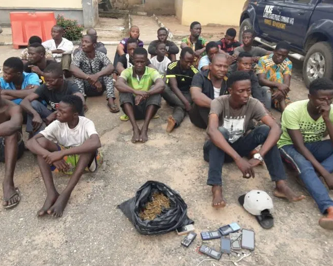 Lagos State police capture 24 members of cult group
