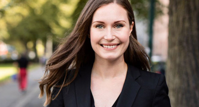 Image result for 34-year-old Sanna Marin is set to become the world's youngest sitting prime minister.