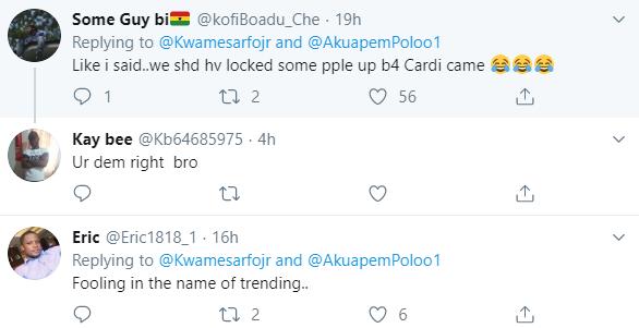 Ghanaians drag Akuapem Poloo for her behaviour when she met Cardi B
