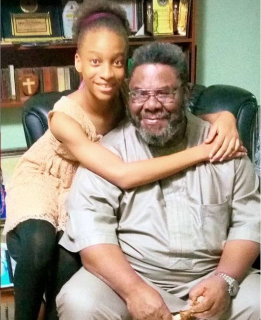 Adorable photo of Veteran actor Pete Edochie and his grand daughter Danielle