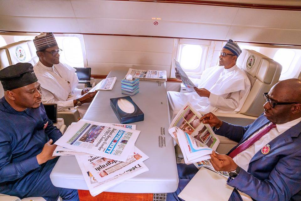 Buhari departs Abuja for Egypt