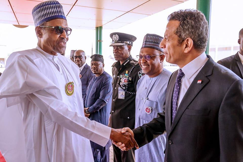 Photos: President Buhari departs Abuja for Egypt