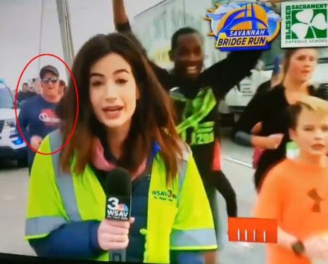 Man who slapped female reporter