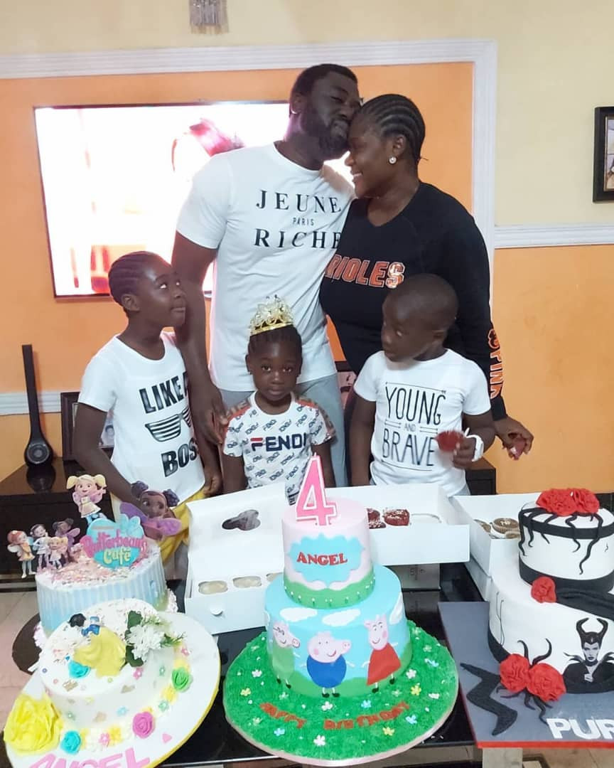Mercy Johnson Okojie and hubby celebrate their daughter, Angel, as she turns 4 (photos)