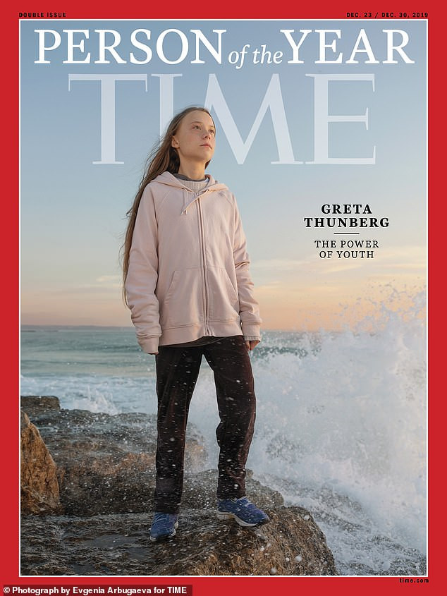16-year-old climate activist Greta Thunberg named Time