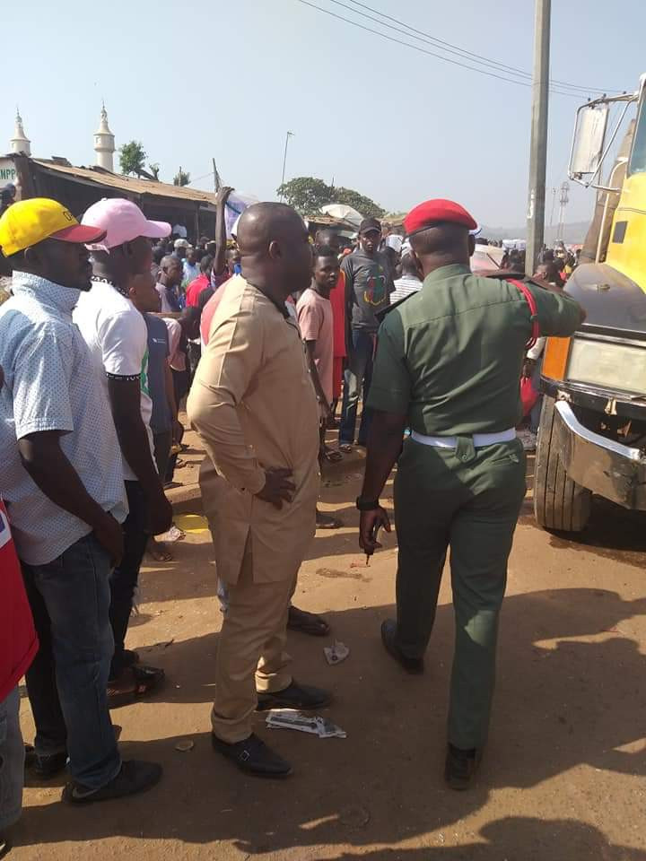 Woman killed, many critically injured as truck crushes vehicles in Abuja (photos)