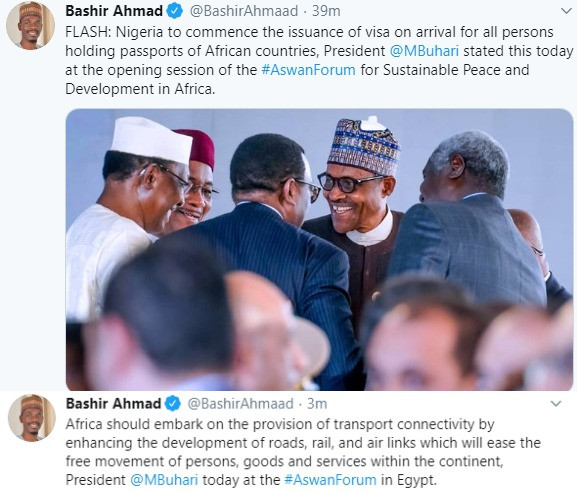 President Buhari announces complete visa exemption for all Africans arriving Nigeria