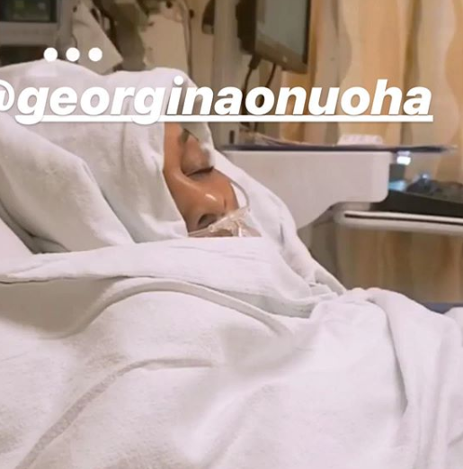 US based actress Georgina Onuoha undergoes successful?surgery?(Photos)