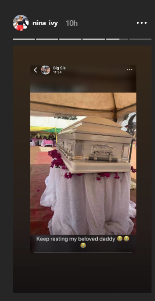 Photos from burial ceremony of BBNaija Nina