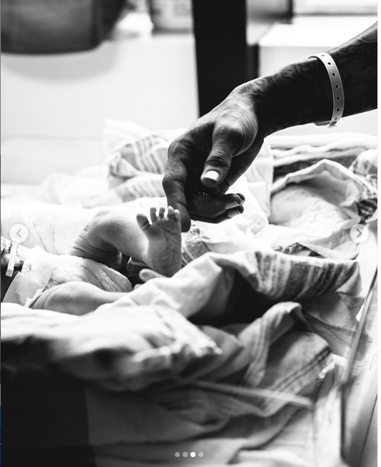 Chris Brown shares first photo of his adorable son, Aeko Catori Brown