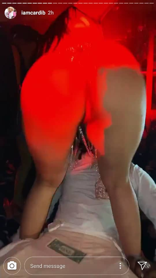 Cardi B films half-naked strippers dancing for her husband Offset as they club together (Photos)