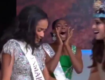 MBGN 2019 Nyekachi Douglas wins the heart of many with her rare display of affection after Miss Jamaica was crowned 2019 Miss World (video)