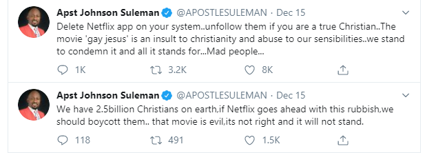 Delete your Netflix app, movie which portrayed Jesus as gay is an insult to Christianity - Apostle Suleman