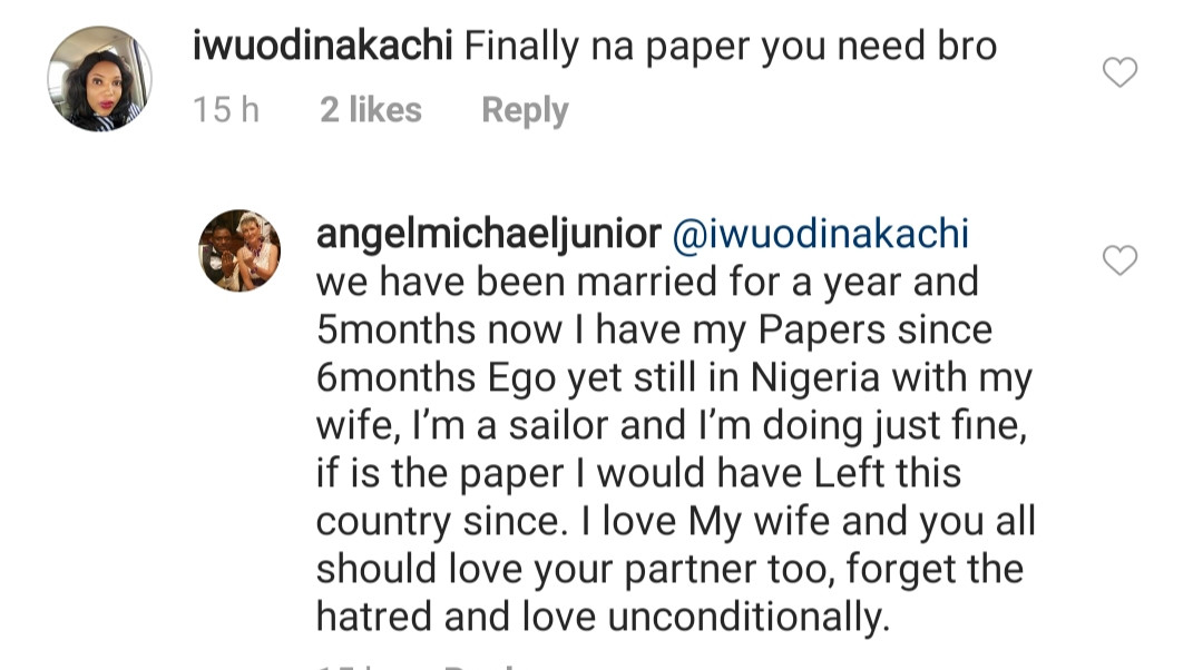 Caucasian woman replies Nigerians claiming her young Nigerian hubby married her just for papers