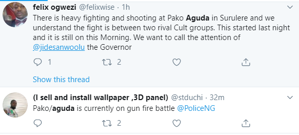Violence erupts in Aguda, Surulere, as rival cult groups engage in gun battle