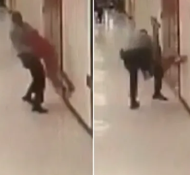 Horrific moment school resource officer slams young student to the ground twice then drags him down the corridor (video)