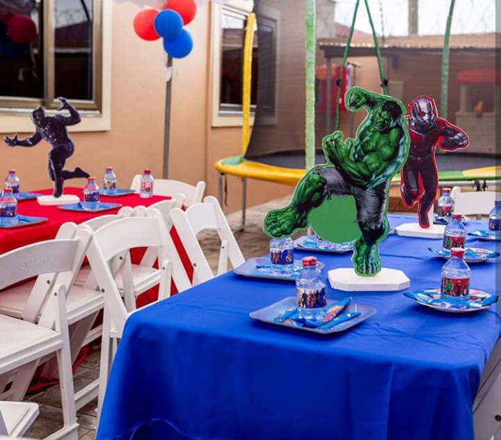 Juliet Ibrahim throws superhero-themed party for her son to celebrate his 9th birthday (photos)
