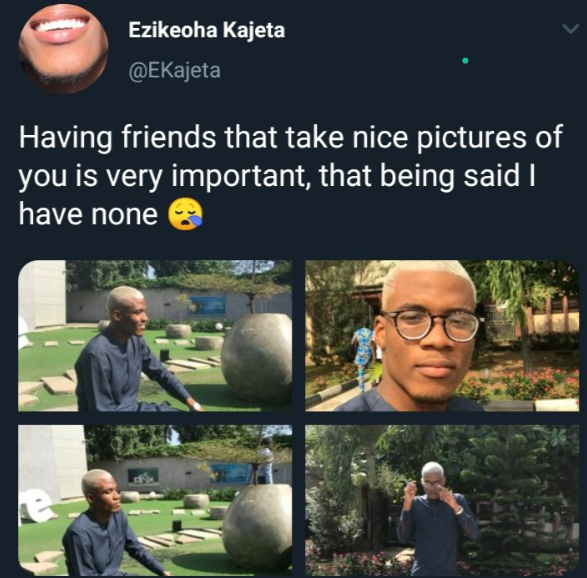 Twitter users have a laugh after a lady shared photos to flaunt her boyfriend but he promptly denied her