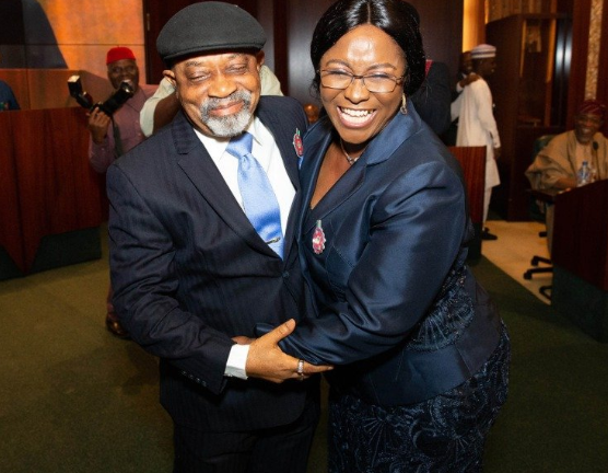 President Buhari swears in Chris Ngige?s wife, eight others as permanent secretaries