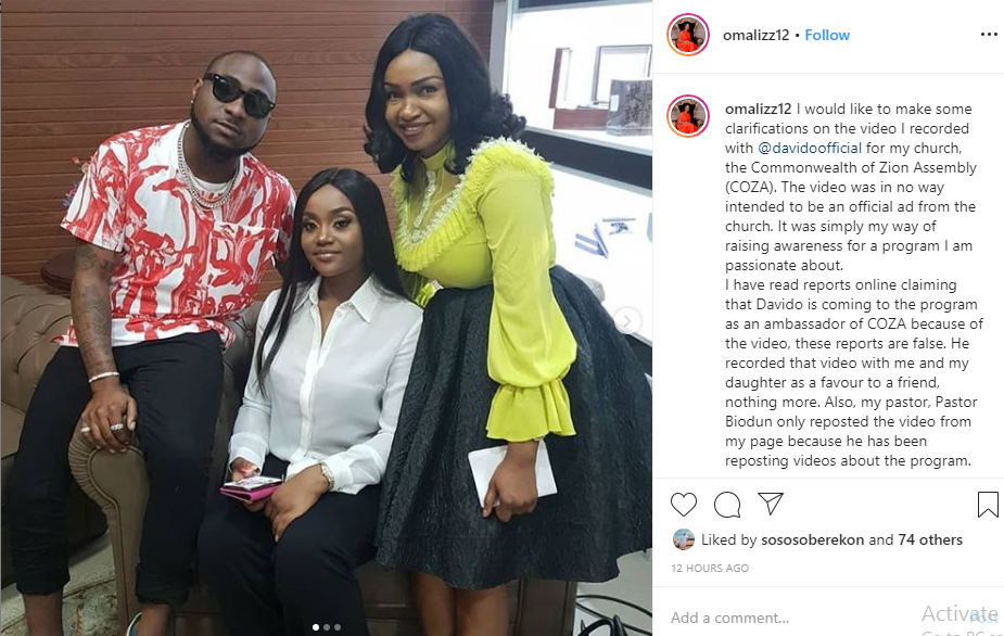 I have nothing to do with COZA - Davido reacts to promotional video after being called out by Nigerians