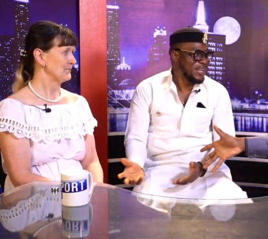 """""""Your government is not good"""" Debby, whose marriage to a younger Nigerian man has Nigerians talking, speaks to LITV on what it"""