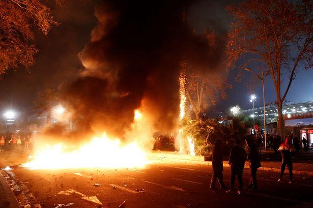 9 arrested after El Clasico between Barcelona and Real Madrid turned violent  (photos)