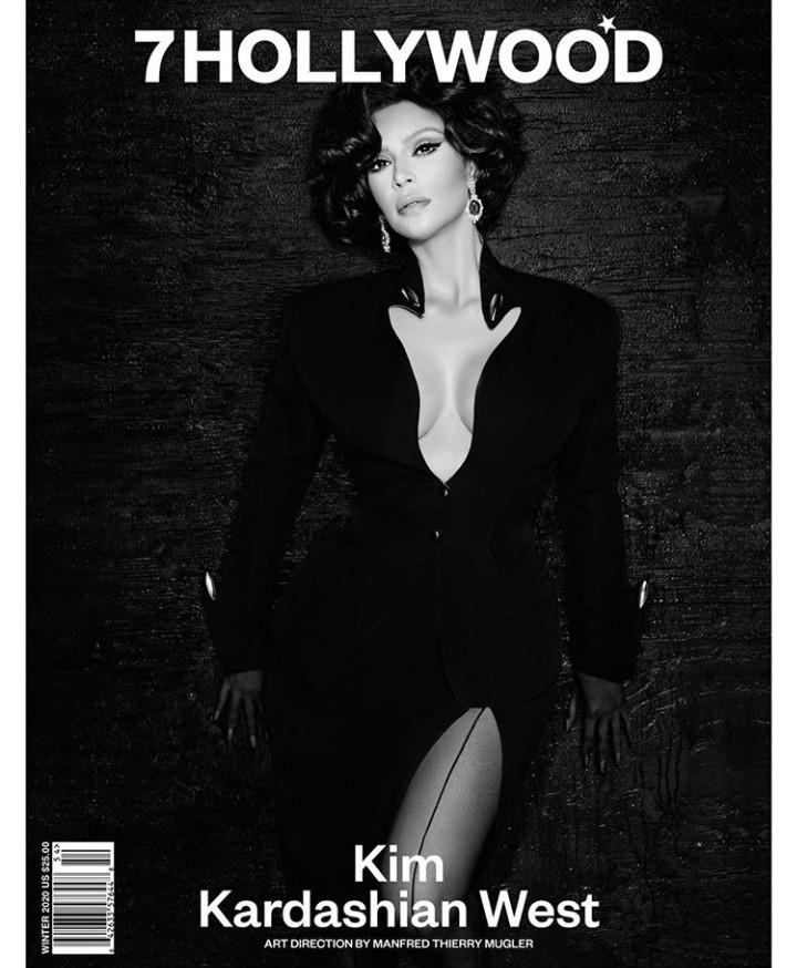 Kim Kardashian looks glamorous in an upcoming photo spread for 7HOLLYWOOD Magazine (photos)